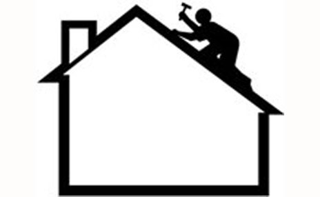 Flat Roof Problems - Roofer Icon Man on A House