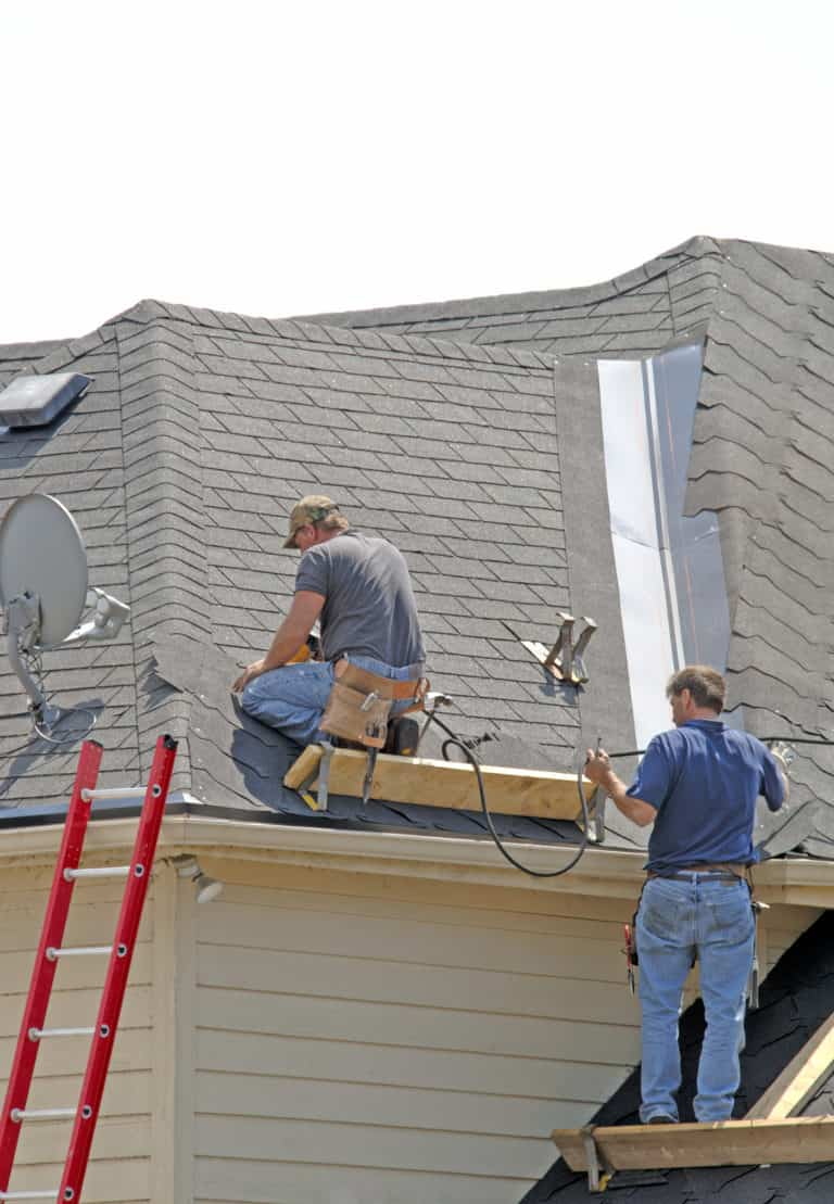 Home Remodeling Minneapolis - 2 Men Working on a Roof