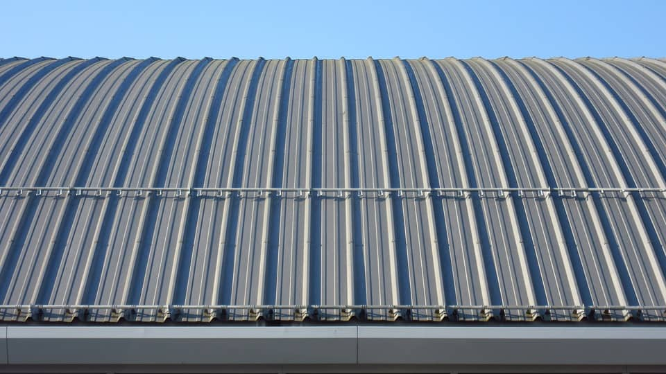 Commercial Roof Replacement Minneapolis MN - Picture off a Curved Metal Roof