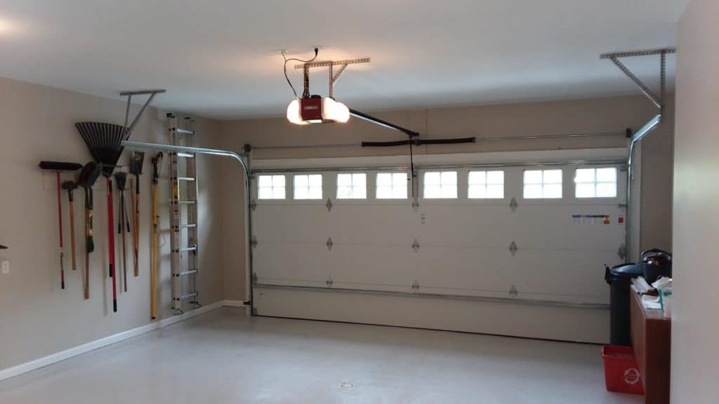 Home Improvement Return on Investment Guide 2020 - A Remodeled Garage and Garage Door from the Inside with the Door Closed