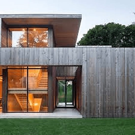 Siding Repair Minneapolis & St Paul - A Contemporary House with Lots of Glass and Steel Siding